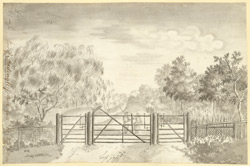 A View in Madingley Park Gate